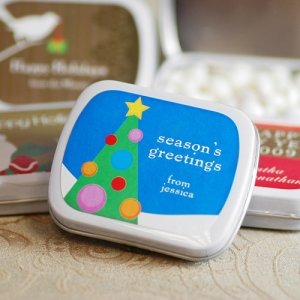 Exclusive Personalized Holiday Mint Tins