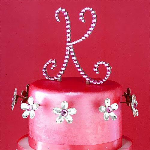Swarovski Crystal Monogram Cake Toppers