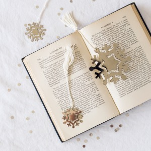 Silver Plated Snowflake Bookmarks
