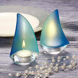 Blue Sailboat Tea Light Holders
