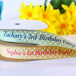 Personalized Polka Dots Ribbon