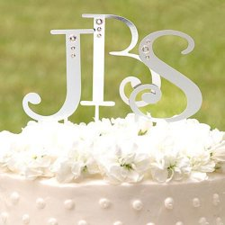 Swarovski Accent Letter Cake Toppers