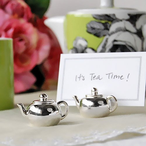 Silver Plated Teapot Place Card Holders