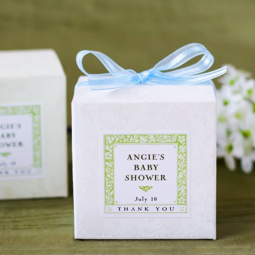 Embossed Square Favor Boxes