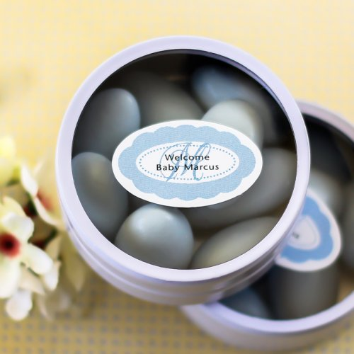 Personalized Oval Baby Shower Labels