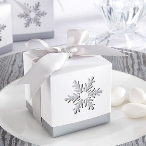 Laser Cut Snowflake Favor Boxes