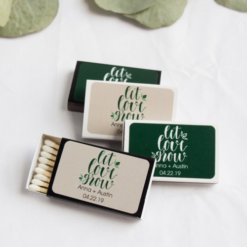 Personalized Let Love Grow Matchboxes