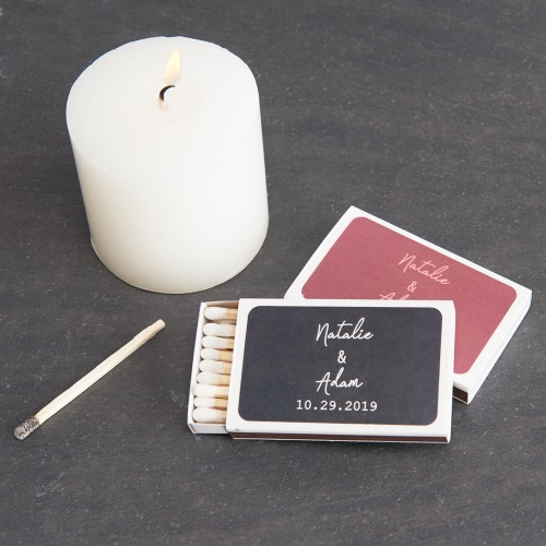 Personalized Wedding Industrial Script Matchboxes