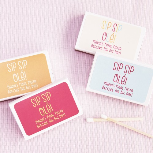 Personalized Sip Sip Ole Wedding Matchboxes