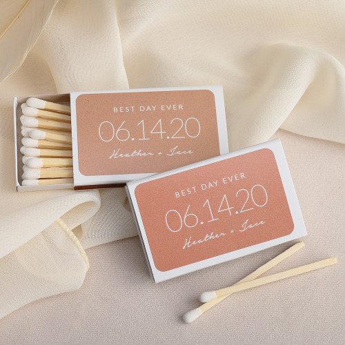 Personalized Wedding Date Matchboxes