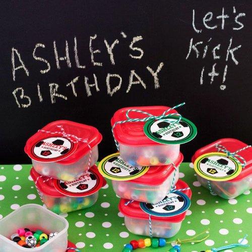 Personalized Round Birthday Party Gift Tags