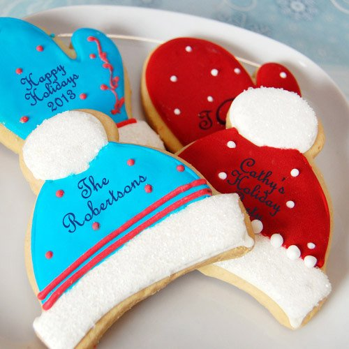 Mitten + Cap Holiday Cookies