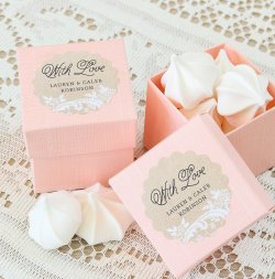 Personalized Scalloped Wedding Labels