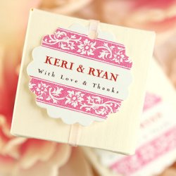 Personalized Scalloped Wedding Gift Tags