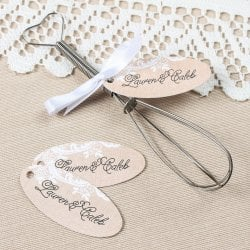 Personalized Oval Wedding Favor Gift Tags