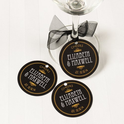 Personalized Round Favor Tags