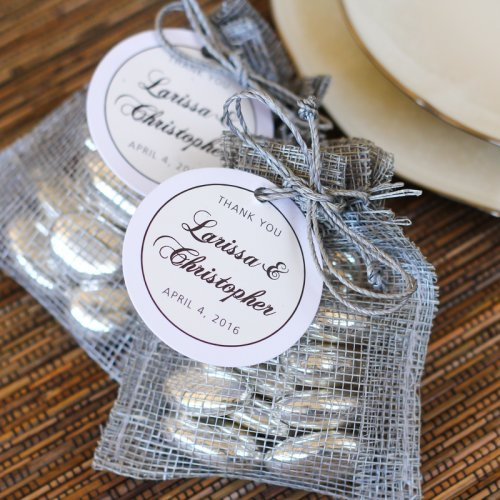 Personalized Round Wedding Favor Gift Tags