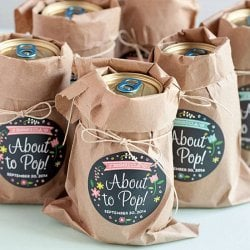 Personalized Round Baby Shower Labels