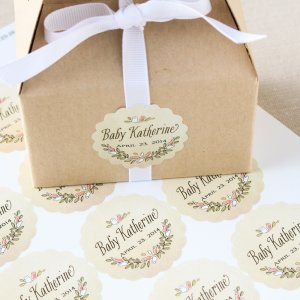 Personalized Scalloped Baby Shower Labels
