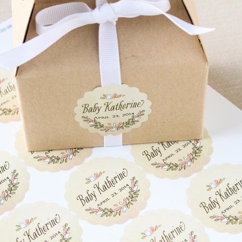 Personalized Scalloped Baby Labels