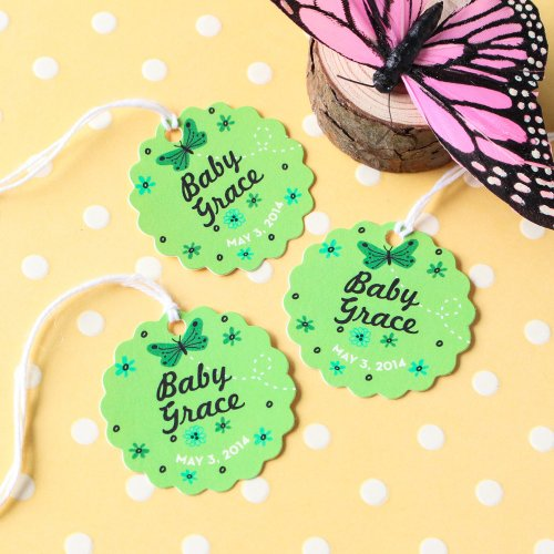 Personalized Scalloped Baby Tags