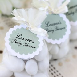 Personalized Scalloped Baby Shower Gift Tags
