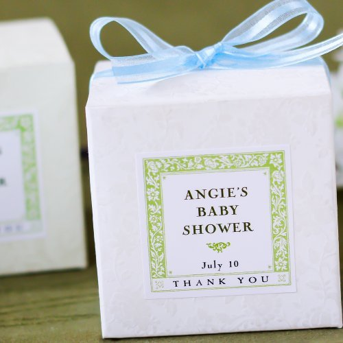 Personalized Square Baby Shower Labels