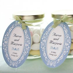 Personalized Oval Baby Shower Favor Gift Tags