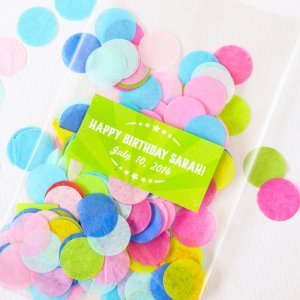 Custom Rectangular Birthday Labels