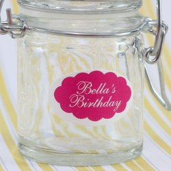 Personalized Oval Birthday Labels