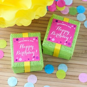 Personalized Square Birthday Labels