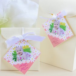 Personalized Diamond Birthday Favor Gift Tags