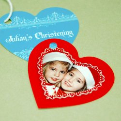 Personalized Heart Shaped Party Gift Tags