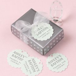 Personalized Scalloped Party Gift Tags