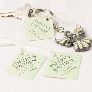 Personalized Diamond Party Favor Gift Tags