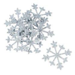 Silver Sparkle Snowflake Confetti