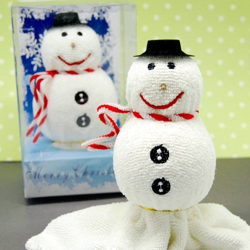 Snowman Towel Favor