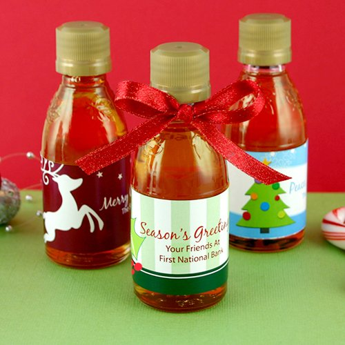 Personalized Holiday Maple Syrup