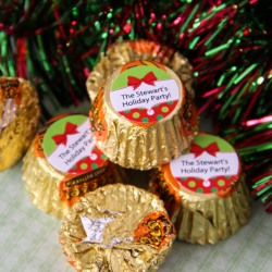 Personalized Holiday Reese's Peanut Butter Cups