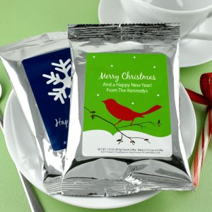 Personalized Holiday Coffee Favors