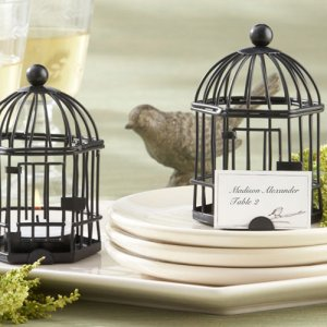 Rustic Birdcage Place Card Tea Light Holder