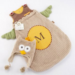 Personalized Owl Snuggle Sack and Cap