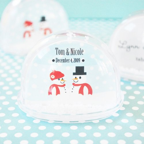 Personalized Winter Snowglobe Place Card Holder