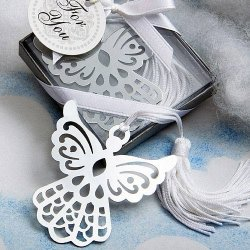 Silver Angel Bookmark Favor