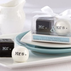 Mr. and Mrs. Ceramic Salt and Pepper Shakers