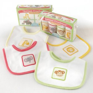 Animal Crackers 4-Piece Bib Set