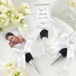 Glass Photo Holder Bottle Stopper
