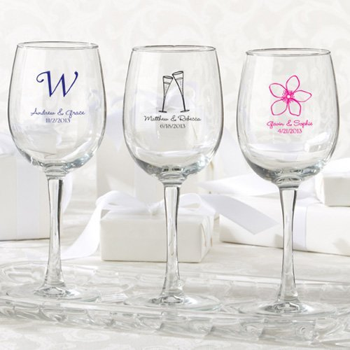 Personalized 12 Oz Wine Glasses