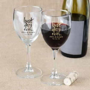 Personalized 8.5 oz Wine Glass
