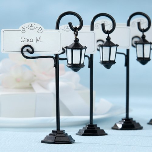 Vintage Street Lamp Place Card Holders With Place Cards